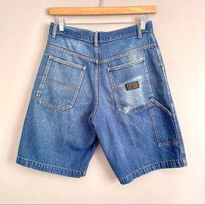 Vtg Y2K Levi's Carpenter Wide Baggy Jean Shorts 32